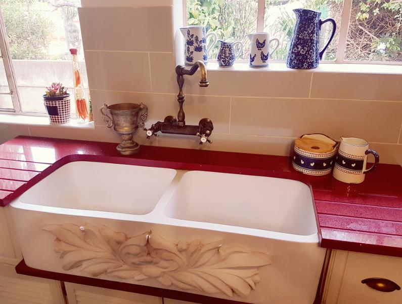 Double Quartz Stone Butler Sink 1000 X 400 X 250
